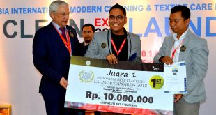 Daniel Christian Tarigan Juara 1 Indonesia Best Practices Laundry Awards 2018 R